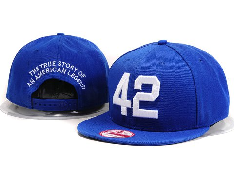 Los Angeles Dodgers #42 MLB Snapback Hat YX099